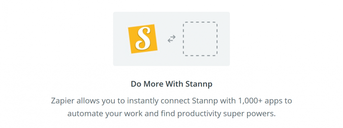 Integrate Stannp with thousands of other apps using Zapier